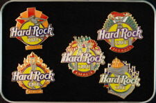Hard Rock Cafe JAKARTA 1997 Sports Monument 5 PINS TIN! - HRC Catalog #3747 New!