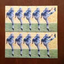 Yale Lary Lions Lot of 10 unsigned Goal Line Art Cards