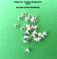 FLY TYING MATERIAL SILVER CONE HEADS PACK OF 25   (02.5-25)