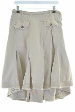 NAPAPIJRI Womens Godet Skirt Size 12 Medium W30 L23 Khaki Cotton