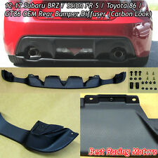 Factory Style Rear Bumper Diffuser (Carbon Look) Fits 12-16 FR-S / Toyota 86
