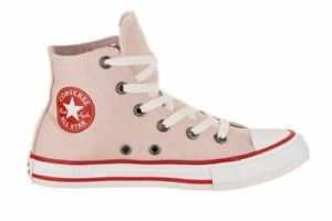 Converse Girls Junior Chuck Taylor All Star Hi PS KIds Size 2 Shoes Rose/Red