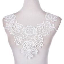 Embroidered Floral Lace Neckline Neck Collars Trims Clothes Sewing Appliques LC