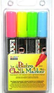 Marvy Uchida Bistro Chalk Marker - Lightboards Whiteboard Windows - 4PC - 480-4A