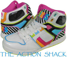 D988 - Osiris NYC 83 SLM ULT Shoes * New Girls Youth 6 Wht / Blk / Multi  #19385