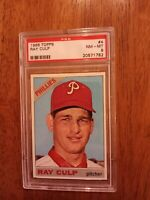1966 Topps # 4 RAY CULP PSA 8 NM-MT PHILLIES Collection Break Tough Card