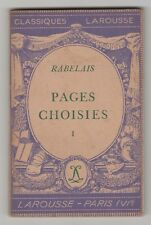 Classiques Larousse Paperback Pages Choisies 1 by Rabelais in French