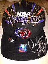 DENNIS RODMAN AUTOGRAPHED CHICAGO BULLS 1998 Championship Lockeroom Hat W/ COA