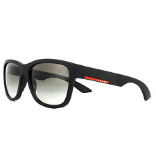 7c6b338d1e PRADA PR PS 03qs Dg0-0a7 Black Rubber Frame Grey Shaded Lens Sunglasses 57