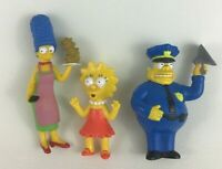 Simpsons Movie Toy Figures 3pc Lot Chief Wiggum Marge Lisa Burger King 2007