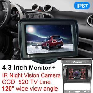 """CAR BUS REAR VIEW KIT 4.3"""" TFT LCD MONITOR+ 18LED IR REVERSING CCD CAMERA 12-24V"""
