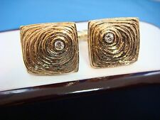 14K SOLID GOLD AND DIAMONDS DESIGNER CUFFLINKS, 22.5 GRAMS.