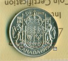 ICCS Canada 1949 - 50cents Coin ; MS-60 ; Cert. No- XMT 253