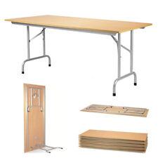 KLAPPTISCH GARNITUR 136x87cm faltbar Picknick-Alu-Tischgestell mit 4 Sitzflächen