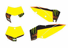 KTM GRAFICHE STICKERS TABELLE MONSTER  EXC 08/11 SX 07/10 CRYSTAL
