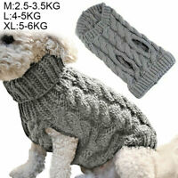 Pet Dog Winter Jumper Sweater Coat Puppy Fashion Knitted Clothes For Small Dogs