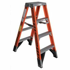 WERNER T7404 4 ft Fiberglass 375 lb Capacity Twin Stepladder IAA