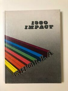 Cholla High School Yearbook IMPACT 1980 Tucson,  Arizona Unused Very Good