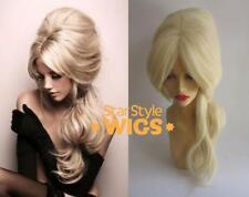 Deluxe COLMENA BLONDE Drag Queen Bouffant largo resistentes al calor disfraz peluca