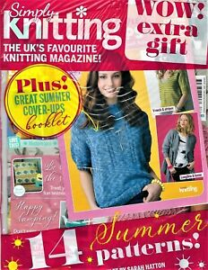 BRAND NEW~SIMPLY KNITTING~ISSUE #201~INSPIRTION-YARN-EXPERTS-STORIES!