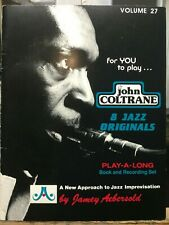 """John Coltrane"" Volume 27 Jamey Abersold Play-A-Long Book and Cd!"