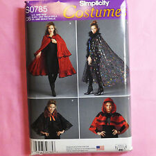 Simplicity Costume S0785 or 1294 4 Looks Cape Long Short SEWING Pattern One Size