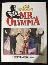 SUPER RARE 1995 Joe Weider IFBB Mr Ms Masters Olympia ITALIAN RECAP Supplement
