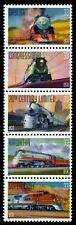 Famous Trains - Scott #3333-3337 Strip of 5 stamps MNH