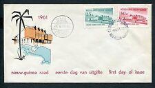 Ned.Nieuw Guinea FDC E6 - E 6, Raad 1961, bl/ok; ds Biak Luchtpost 1
