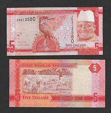 Gambia 5 Dalasis (2015) P-New Replacement - Unc