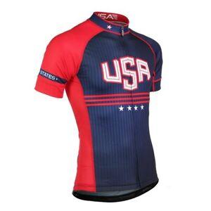 Summer USA Cycling Jersey Men Mountain Bike Shirt Maillot Ropa Ciclismo