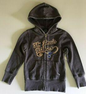 """""""NEW"""" ST. LOUIS BLUES NHL Fleece Hoodie, Jacket W/Zipper Front, Girls Size 4/5."""