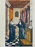 Antique de Latouche Erotik Akt France Nonne Kloster Erotic Love Art Sex 1748