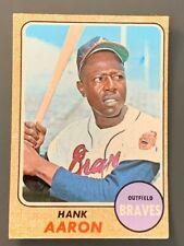 1968 Topps #110 Hank Aaron VGEX Atlanta Braves HOF