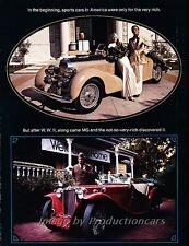 1974 MG MGB GT Midget 6-side Brochure Advertisement Print Art Car Ad J818