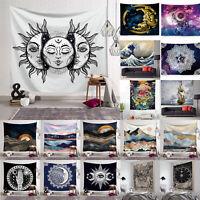 Hippie Tapestry Tarot  Wall Hanging Blanket Sun Moon Bedspread Throw Home Decor