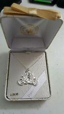Disney Parks Cinderella buggy  necklace with blue gem