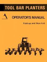 ALLIS CHALMERS Tool Bar Planter Operators Manual