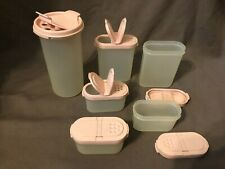6 Tupperware Spice Containers with Pink Top