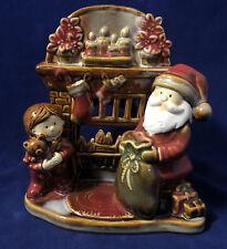 Yankee Candle Holder Santa Mantel By Ronnie Walter Christmas