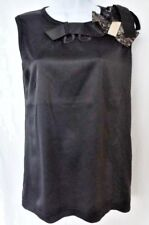 Auth NEW with TAGS Black DOLCE&GABBANA Blouse TOP T-Shirt Accented with LACE BOW