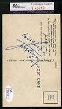 JACK DEMPSEY JSA COA Autograph 1940`S Postcard Hand Signed Authentic