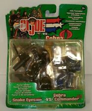 G.I.JOE VS COBRA SNAKE EYES VS COBRA COMMANDER HASBRO 2002 NUEVO NEW