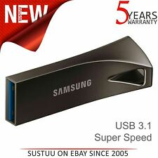 Samsung BAR Plus 256GB USB 3.1 Flash Stick│Pen Memory Drive│300MB/s│Titan Gray