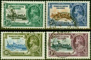 Turks & Caicos 1935 Jubilee Set of 4 SG187-190 Fine Used