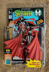 1994 Todd McFarlane Spawn Flying Cape Toy MOC w/ Special Edition #1 Comic Book
