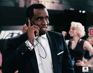 P Diddy Hand Signed Autographed 8X10 Photo Puff Daddy on Phone GA769328