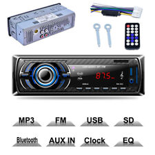Universal Black Car Stereo MP3 Player Kit Blueteeth AUX SD USB FM Radio Remote