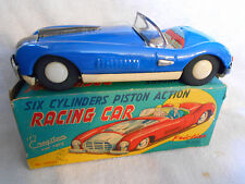 Cragstan Six Cylinder Piston Action Cunningham Racing Car Friction Powered w/Box