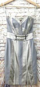 KAREN MILLEN Corset Strapless Pencil Dress Beige Champagne Size AU/UK 6 - EU 34